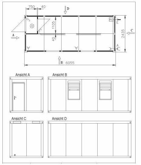 Container Grundrisse Grundriss Beispiele Wohncontainer