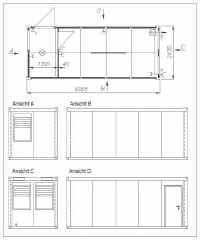 container grundrisse grundriss beispiele wohncontainer. Black Bedroom Furniture Sets. Home Design Ideas