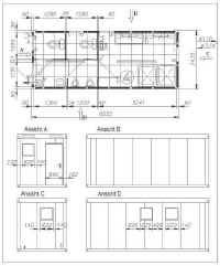 container grundrisse grundriss beispiele wohncontainer b rocontainer und sanit rcontainer. Black Bedroom Furniture Sets. Home Design Ideas